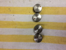 Stainless Samsung burner control knobs set of 4 DG97 00133A free shipping