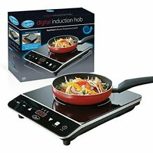 PORTABLE ELECTRIC DIGITAL INDUCTION HOB HOT PLATE   10 TEMP SETTINGS   TIMER