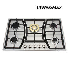 New  30  Stainless Steel 5 Burner Gas Cooktops NG LPG Cooker kitchenaew