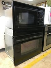 Black GE Profile Convection Microwave And Oven Wall Combo Model   JT965B0F1BB