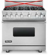 Viking Professional 36  6 VSH Sealed Burners Pro style Gas Range VGCC5366BSS