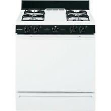 White Hotpoint Range Common 30 Freestanding 4 8 Cu ft Gas Actual 30 Single Oven