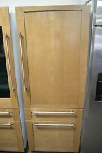 Monogram 30  Built In Panel Ready Bottom Freezer Refrigerator ZIC30GNHII