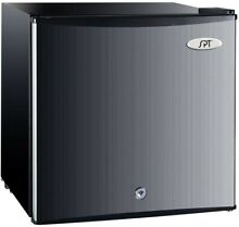 SPT 1 1 cu  ft  Compact Freezer Stainless Steel Upright Safety Lock Energy Star