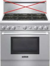 Thermador 36  6 Sealed Star Burners SS Pro Style Natural Gas Range PRG366GH