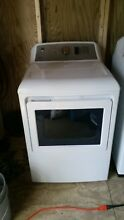 GE gas dryer  White front load  No scratches  dents dings  Still has warranty