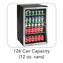 Tramontina 126 Can Beverage Center Stainless Steel Handle Fridge MINI FREE SHIP