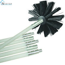 Dryer Duct Cleaning Kit 12  Clear Clean Tool Cleaner Lint Remover Vent Brush New