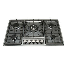 34  Black Titanium Stainless Steel Built in 5 Burner Stoves Gas Hob Cooktops