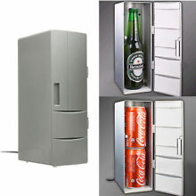 USB Mini Fridge Portable Refrigerator Beverage Drink Can Cooler Warmer Freezer