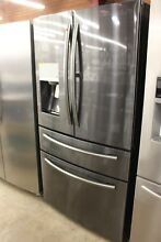 Samsung 27 8 Cu Ft French Door Refrigerator RF28JBEDBSGAA  Black Stainless Steel