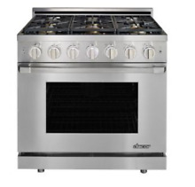 Dacor Heritage 36  Stainless Steel Natural Gas Pro Range HGPR36S NG