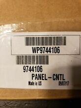 Whirlpool Dishwasher Touchpad and Control Panel Part  WP9744106