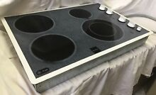 Black   Gray GE Profile Cooktop With Expandable Burner Option Model  JP360W0V1WW