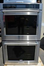 KitchenAid 30  Stainless Steel Double Electric Convection Wall Oven KODE500ESS