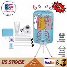 Portable Ventless Laundry Clothes Dryer Folding Drying Machine 900w Heater US
