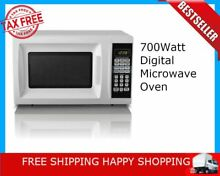 700Watt Digital Microwave Oven Kitchen Counter 0 7cuFt Compact LED Display White
