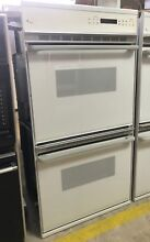 White GE Monogram Built In Double Wall Oven W  Self Cleaning Model   ZEK755WP2WG