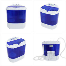 Hot Mini Washing Machine Compact Twin Tub Washer Spin   Dryer Free Shipping