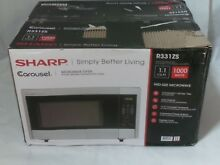 SHARP R331ZS Carousel 1 1 CF Mid Size 1000 Watts Stainless Steel Microwave