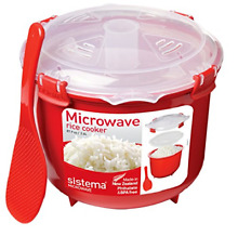 Sistema Microwave Rice Cooker  2 6 L   Red Clear