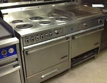 GARLAND 6 Burner Electric Range W flat top Grill and Double Ovens