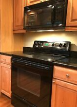 Kenmore Electric Range and Microwave Hood  Black