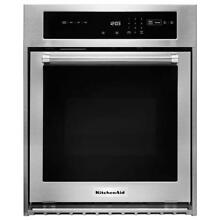 KitchenAid KOSC504ESS 24 in  Single Electric Wall Oven with Convection in SS