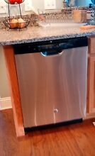 GE Dishwasher with Front Controls Stainless Steel