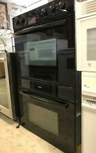 Black Bosch Double Wall Oven Model   HBL456AUC   In Good Working Condition