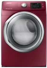 Samsung DV435ETGJRA 27  Red Front Load Electric 220v Dryer