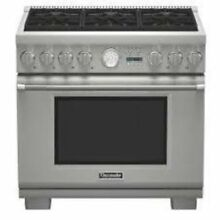 Thermador Pro Grand 36  Pro Style 6 Sealed Burners Dual Fuel Range PRD366JGU