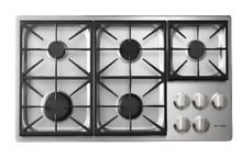 Dacor DYCT365GS NG Discovery 36  Gas Cooktop  Natural Gas in Stainless Steel