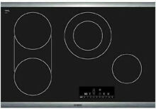 Bosch 800 Series 30  4 Cooking Zone Black Smoothtop Electric Cooktop NET8066SUC