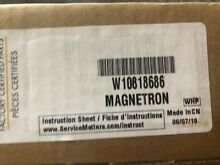 Whirlpool Microwave Magnetron W10818686