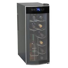 12 Bottle Wine Cooler Thermoelectric Fridge Beverage Chiller Storage Top Counter