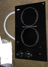 Summit CR2110 Smoothtop Electric Cooktop 2 Burners 12  Black 115 Volt  25 amp