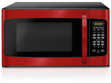 Hamilton Beach 1 1 Cu Ft Microwave Oven Red Stainless Steel Kitchen Countertop