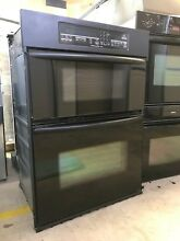 Black Kitchenaid Built In Convection Wall Oven And Microwave Mdl  KEMC307KBL05