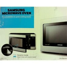 Samsung Counter Top Microwave  1 1 Cubic Feet  Stainless Steel