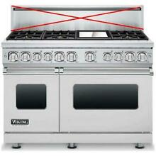 Viking Professional 7 Series 48 Inch Pro Style SS Dual Fuel Range VDR7486GSSLP