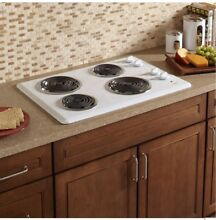 FREE SHIPPING New Whirlpool 30 in  Built in Electric White Cooktop WCC31430AW