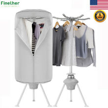 Portable 1000W Electric Clothes Dryer Drying Heater Wardrobe Machine Compact US