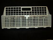303691 Kenmore   Whirlpool Dishwasher Lower Rack SILVERWARE CUTLERY BASKET White