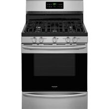 Gas Range Convection Oven Self Cleaning Smudge Proof Stainless Steel 5 0 cu ft