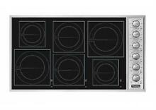 Viking Professional Series 36  6 MagneQuick Glass Induction Cooktop VICU2666BSB