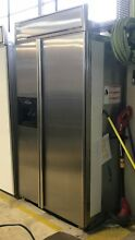 42  Stainless Steel Kitchenaid Built In Refrigerator Model   KSSP42QHS00 Dented