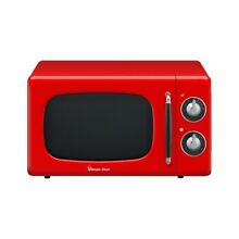 Red Retro Countertop Microwave 0 7 cu  ft  Magic Chef Variable Control Cook Knob