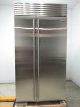 Sub Zero 42  15 8 cu  ft Built in Stainless Side by Side Refrigerator BI42SIDSTH