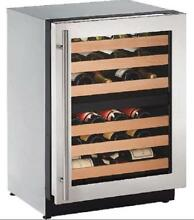 U Line 2224WCS 00B 2000 24  Dual Zone Built in Wine Captain Stainless Steel